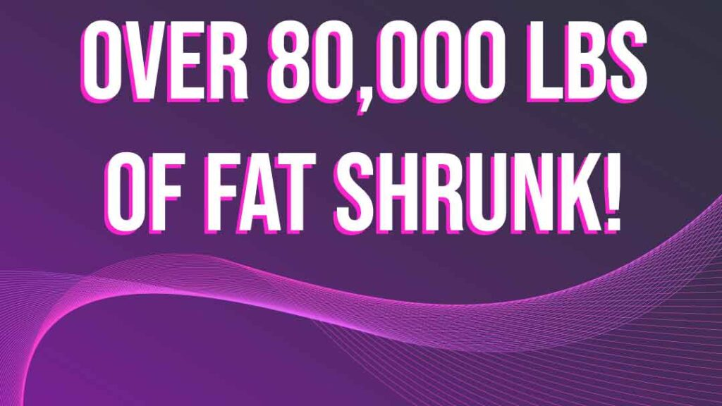 fast fit clients have lost over 80,000 pounds of fat!